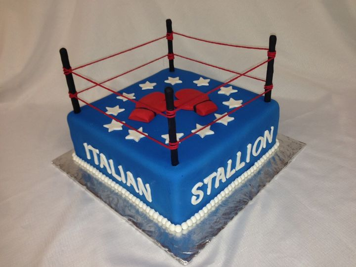Tmx 1414422494291 Rocky Italian Stallion Cake Valley Cottage wedding cake