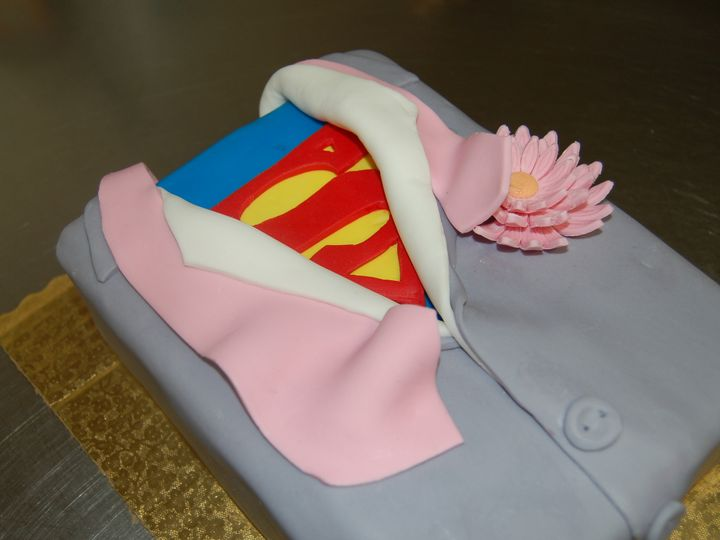 Tmx 1414436192548 Superman Groomsman Cake Valley Cottage wedding cake