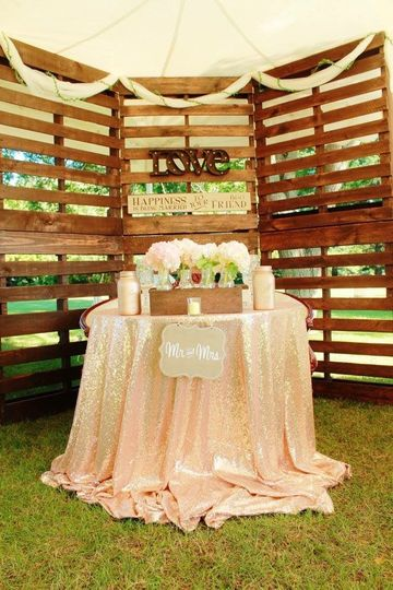 Rustic glam backyard wedding 7/15/17