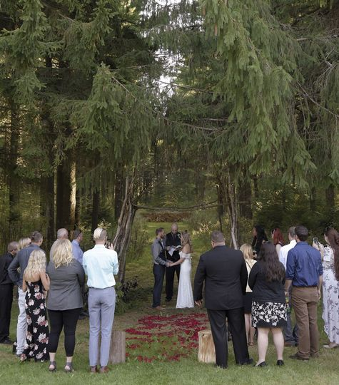 Outdoor ceremony for up to 150
