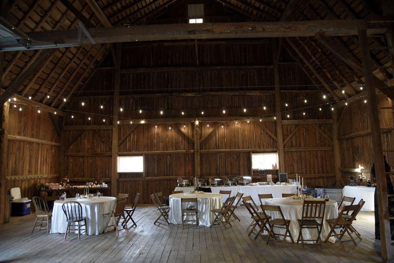 Big barn buffet set up