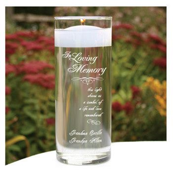 Remember loved ones who have passed on your special day with this beautiful personalized floating...