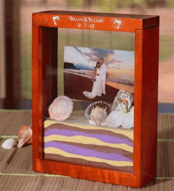 sand ceremony picture frame