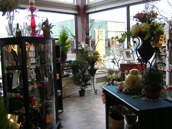 Part of our beautiful floral showroom in Astoria, Oregon.