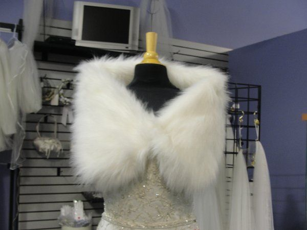 Selection of faux fur wraps and jackets perfect for your winter wedding.