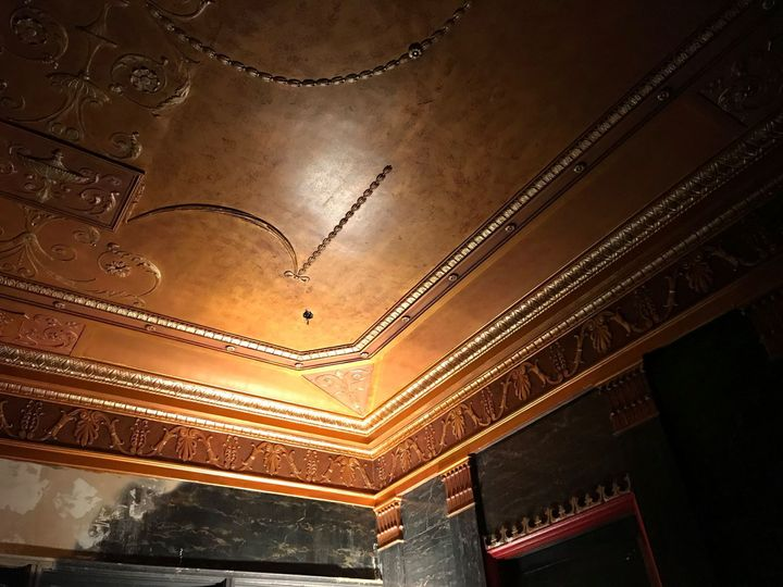 Ceiling in lobby