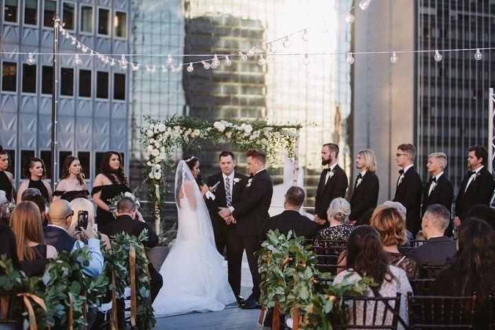 elegant marble themed rooftop wedding by nichola