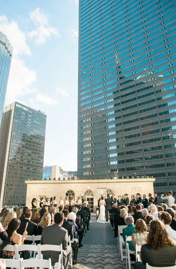 Rooftop ceremony