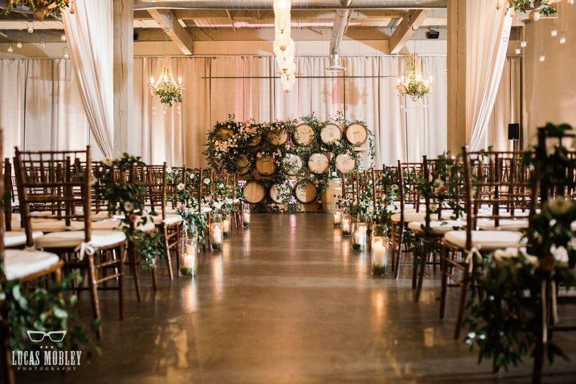 Wedding aisle and altar decor