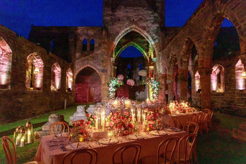 Bermuda wedding at night