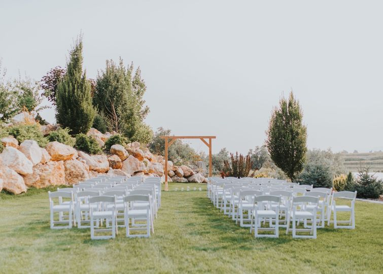 Chairs for ceremony