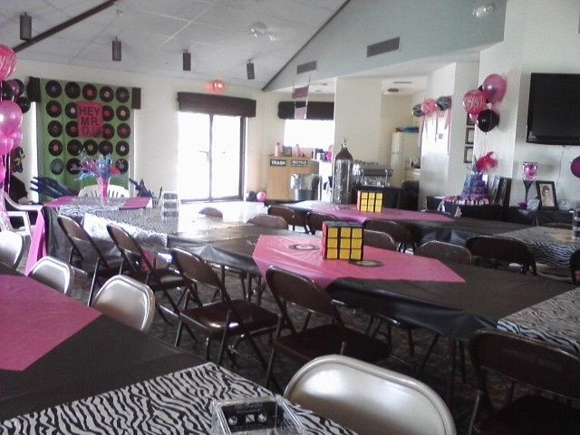 Ocean and Racquet's clubhouse set-up for a birthday party