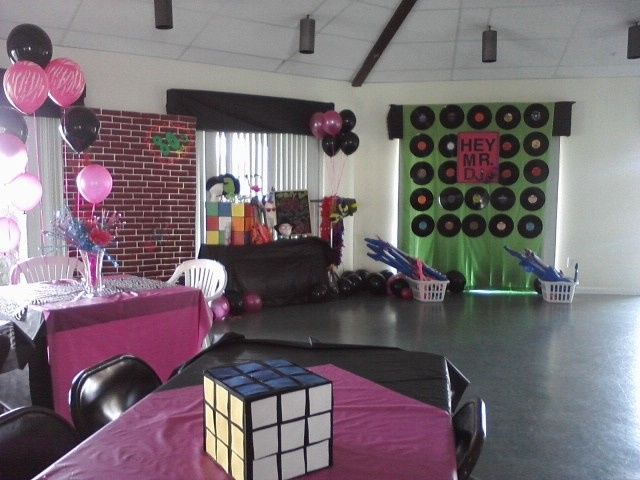 Ocean and Racquet's clubhouse set-up for a birthday party.