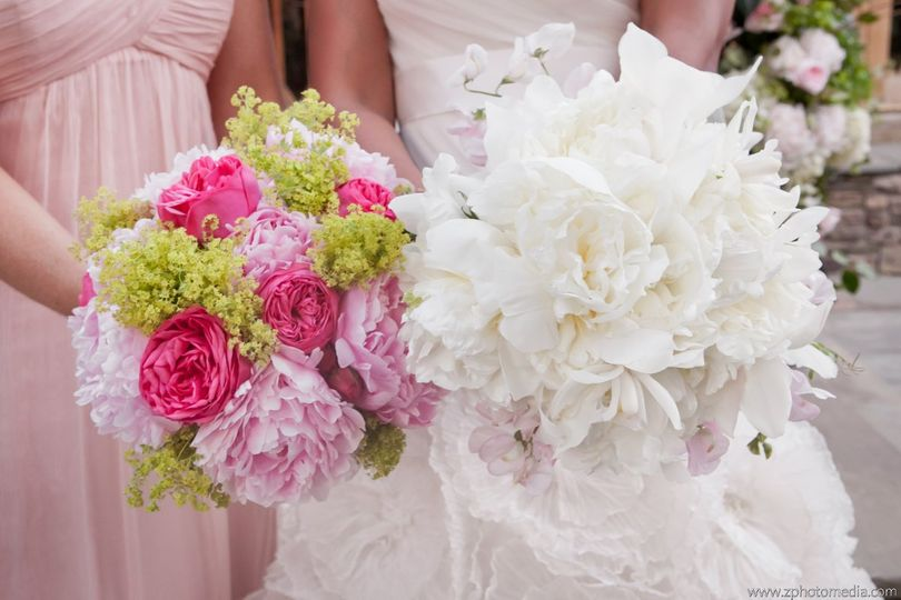 Bride and bridesmaid's bouquet