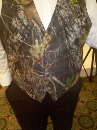 Groomsmens' vests. Now that's country.