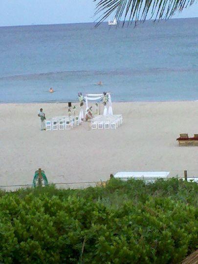 Beach wedding in West Palm