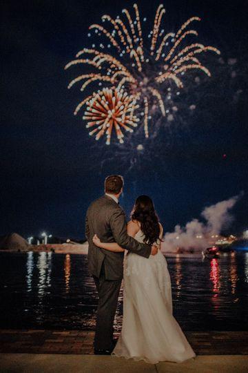 Fireworks over the harbor