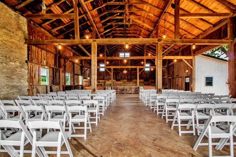 Rustic Barn set for Ceremony