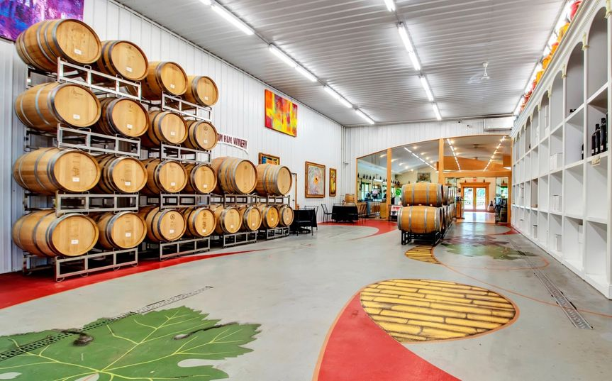 Barrel Room with Glass Wall