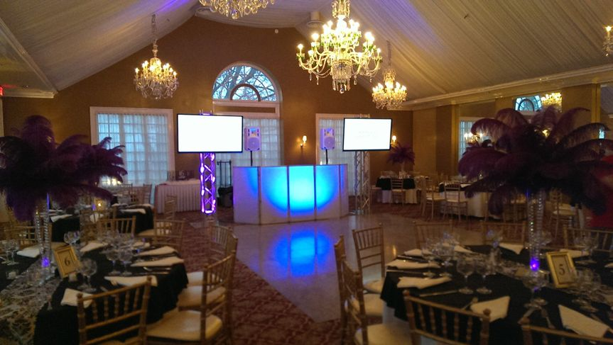 Reception and DJ booth