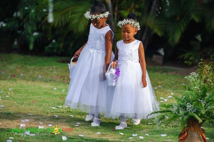 Flower girls head bands by us