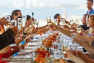 vlp wedding photos cheers dining table