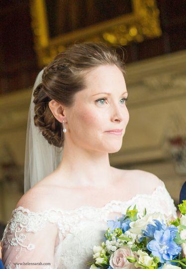 bride braid hair and makeup amanda roberts