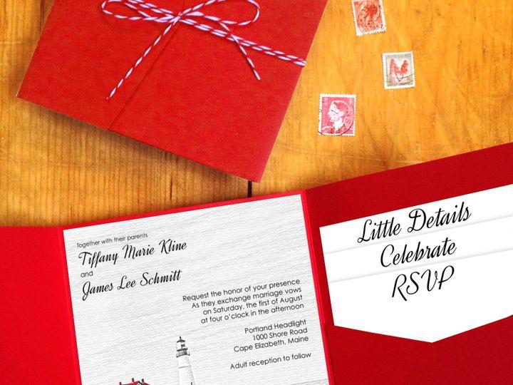 Tmx 1426528671276 Cover Photo2 Portland, ME wedding invitation