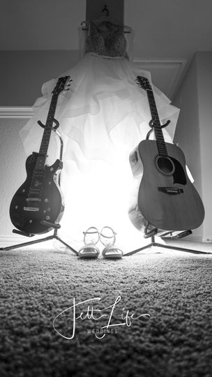 His and her guitars