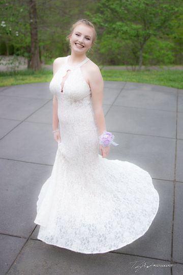 All-white dress