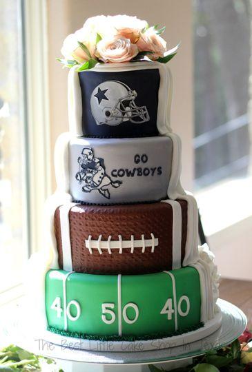 Groom side of wedding cake!