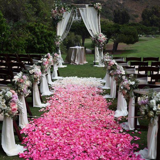 Floral aisle runner