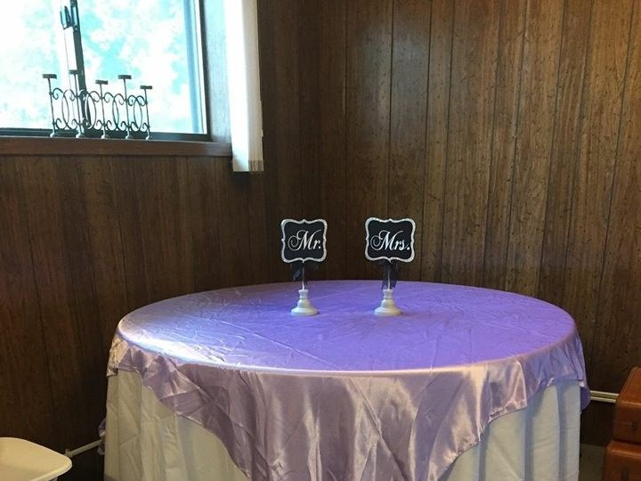 Tmx 1460786469999 Roun Lavander Tables With Lavander Overlay Oklahoma City, OK wedding eventproduction