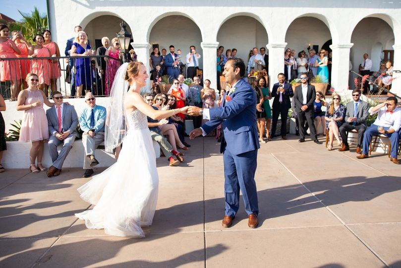 First Dance over the water