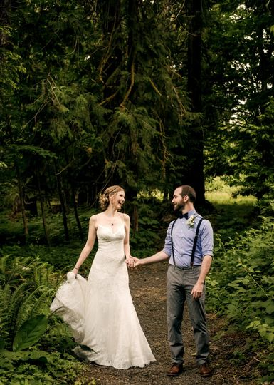 Woodsy Nature Wedding Photo