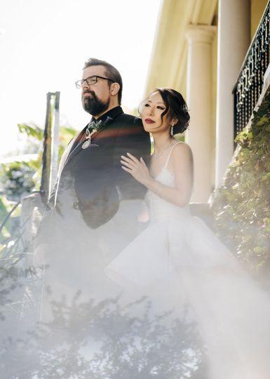 Unique Bride & Groom Portrait