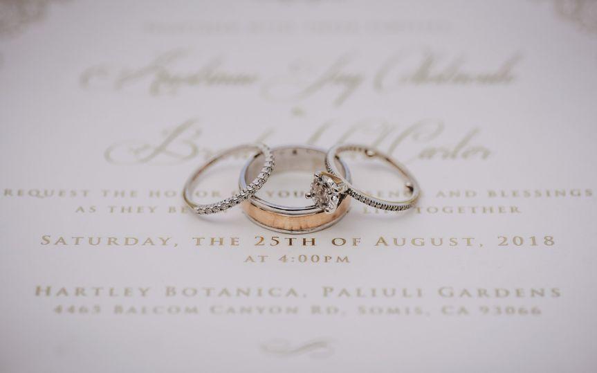 Elegant Wedding Details Photo