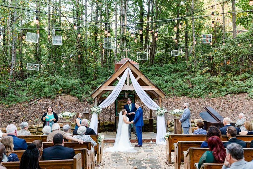 A ceremony in the woods