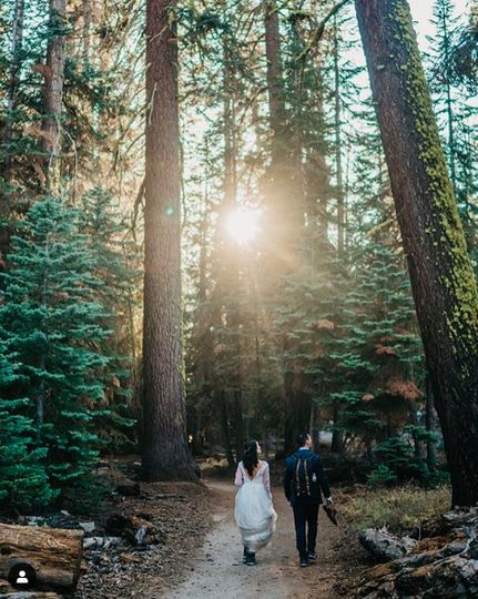 Hiking on your Wedding Day