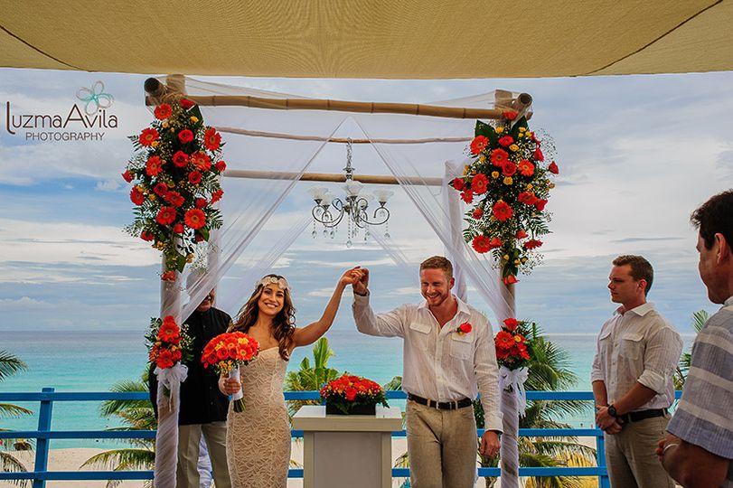 tabithaben wedding grand oasis cancun quintana roo