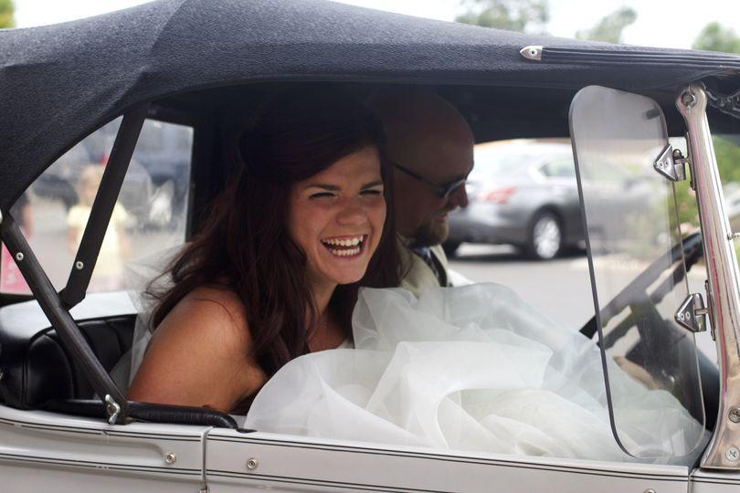 joe and krista in car