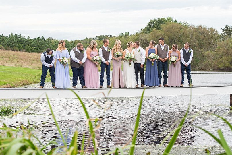 Bridal party on the dockWeddings by Paul V