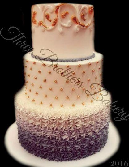 Gradient wedding cake
