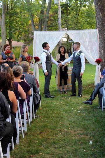 Mark and Craig's beautiful backyard wedding