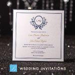 b wedding invitation