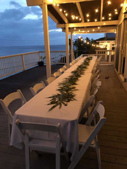 Private celebrations at waimea