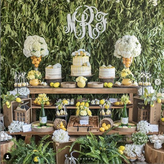 Lemon wedding theme