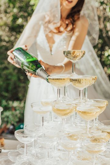 Wedding and Champagne