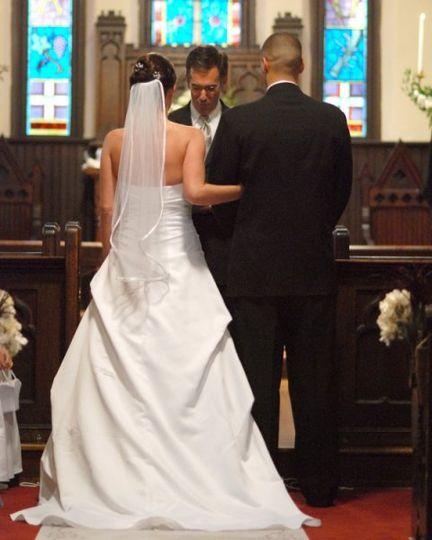 Ceremony at St. Mary's Chapel Photo by Gene Ho Photography