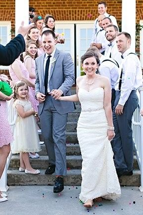 Couples with bridesmaids and groomsmen